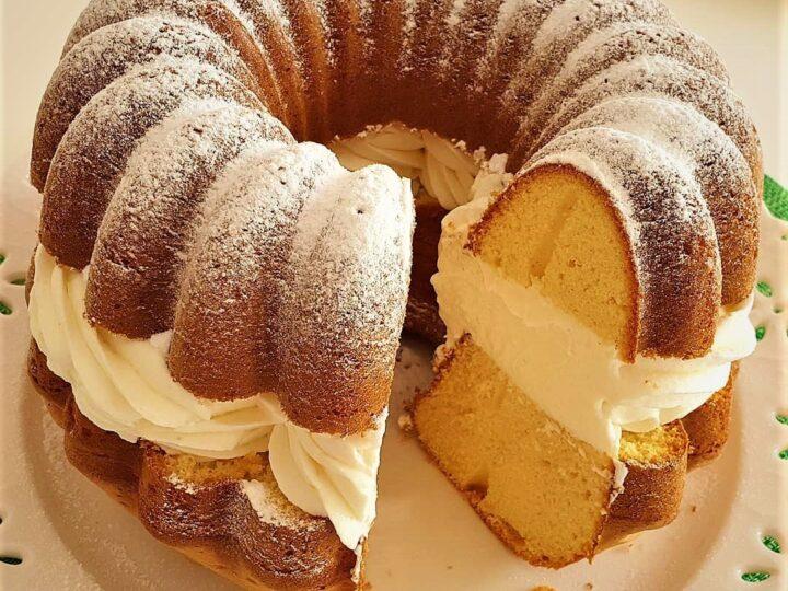 Γεμιστό κέικ λεμονιού