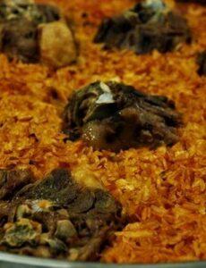 Ατζέμ πιλάφι με αρνί στο φούρνο